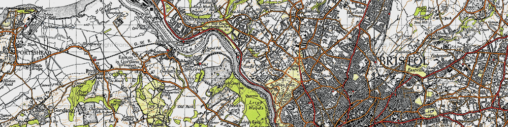 Old map of Sneyd Park in 1946