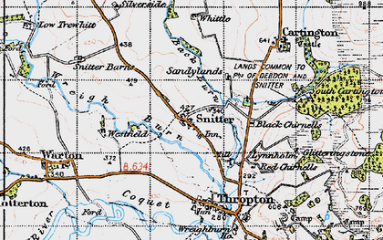 Old map of Wreigh Burn in 1947