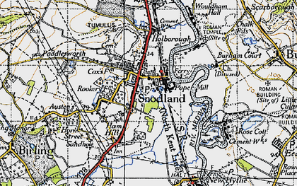 Old map of Snodland in 1946