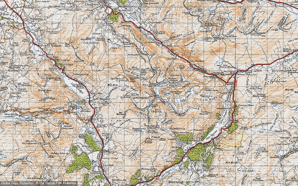 Old Map of Historic Map covering Allt Maenderyn in 1947