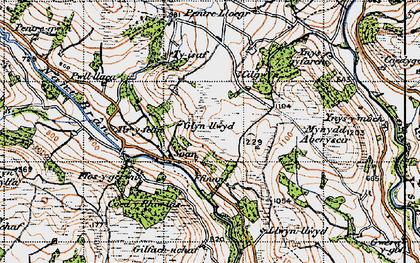 Old map of Tir-y-felin in 1947