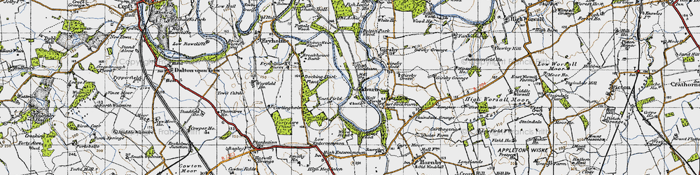 Old map of Wood Head in 1947