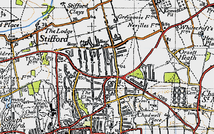 Old map of Socketts Heath in 1946