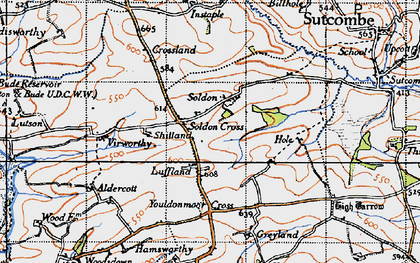 Old map of Aldercott in 1946