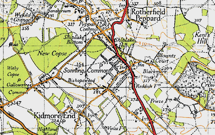 Old map of Sonning Common in 1947