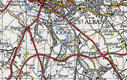 Old map of Sopwell in 1946