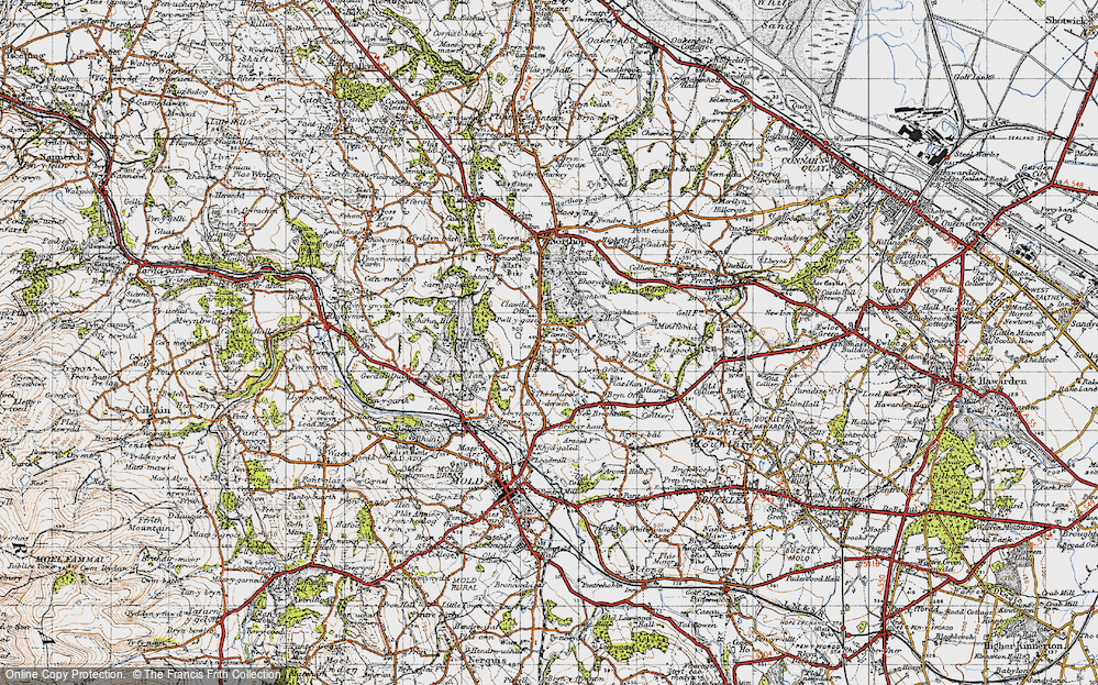 Old Map of Historic Map covering Laurels, The in 1947