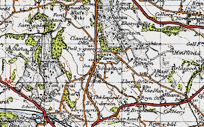 Old map of Soughton in 1947