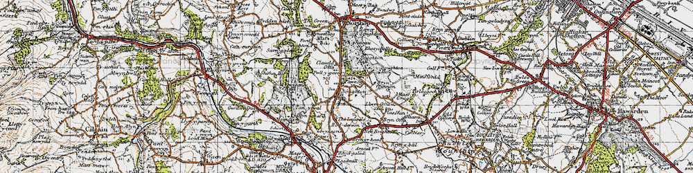 Old map of Laurels, The in 1947