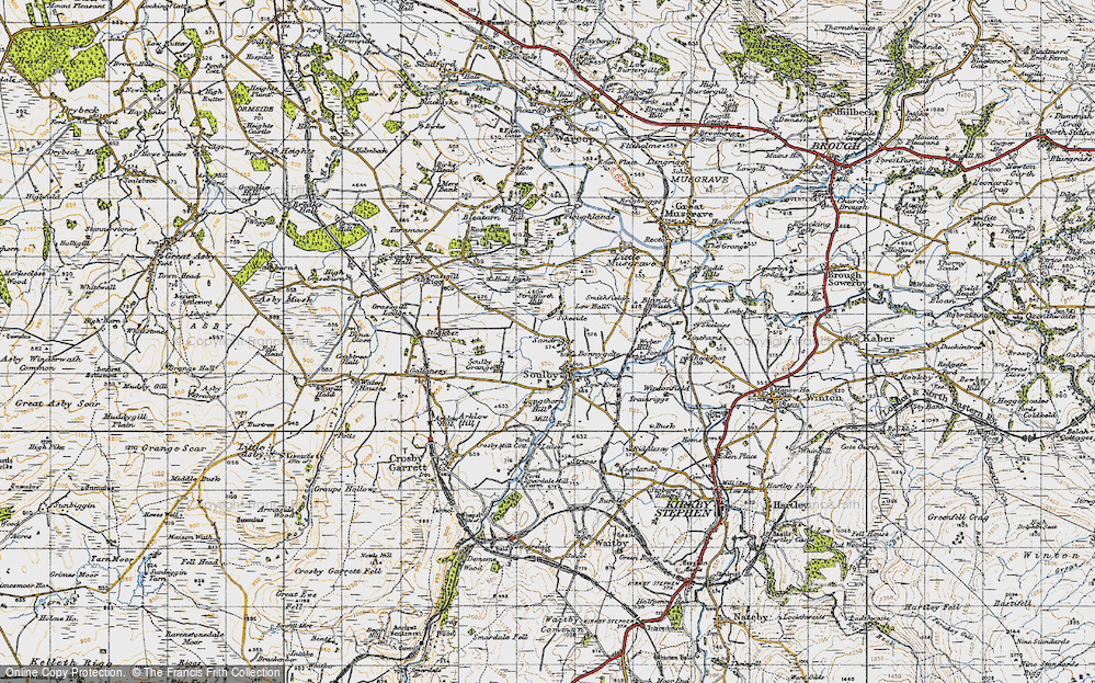 Old Map of Historic Map covering Linehams in 1947