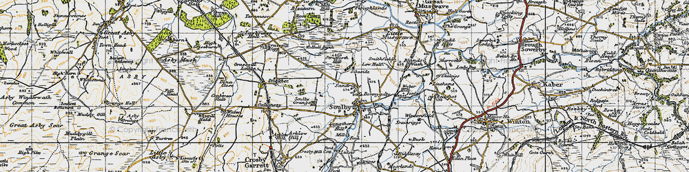 Old map of Wyber Hill in 1947