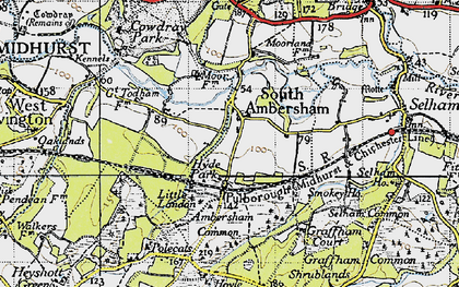 Old map of Ambersham Common in 1940