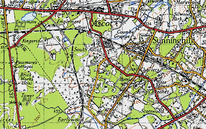 Old map of South Ascot in 1940