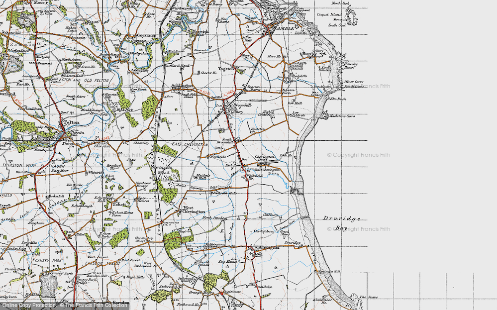 Old Map of South Broomhill, 1947 in 1947