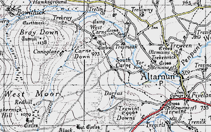 Old map of South Carne in 1946