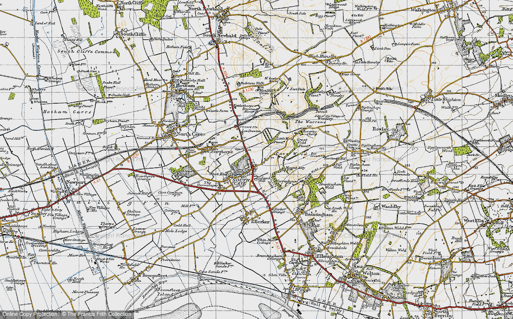 Old Map of South Cave, 1947 in 1947