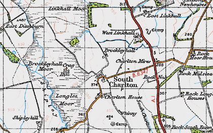 Old map of Linkhall Moor in 1947