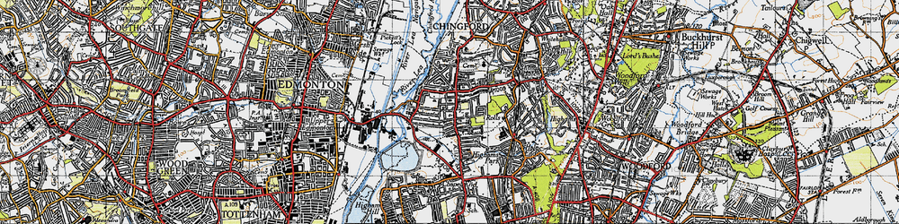 Old map of South Chingford in 1946