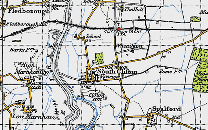 Old map of Wheatholme in 1947