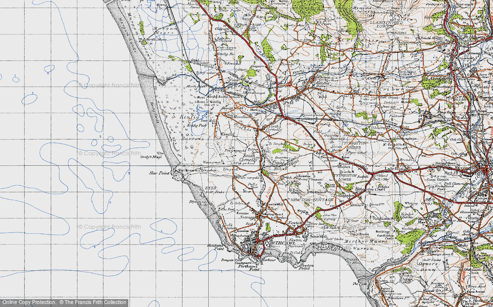 Old Map of South Cornelly, 1947 in 1947
