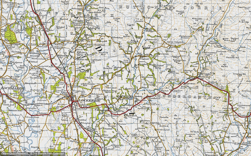 Old Map of Historic Map covering Banks in 1947