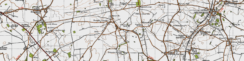 Old map of Whin Close Villa in 1946