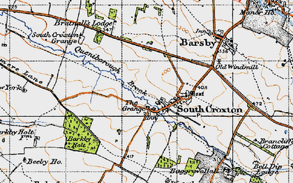 Old map of Barkby Holt in 1946