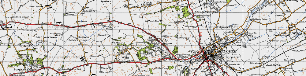 Old map of Ackthorpe Village in 1946