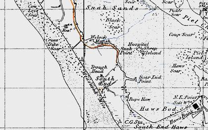Old map of Wylock Marsh in 1947