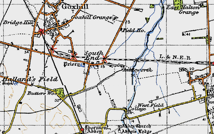 Old map of South End in 1947