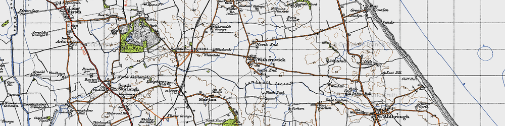 Old map of Westlands in 1947