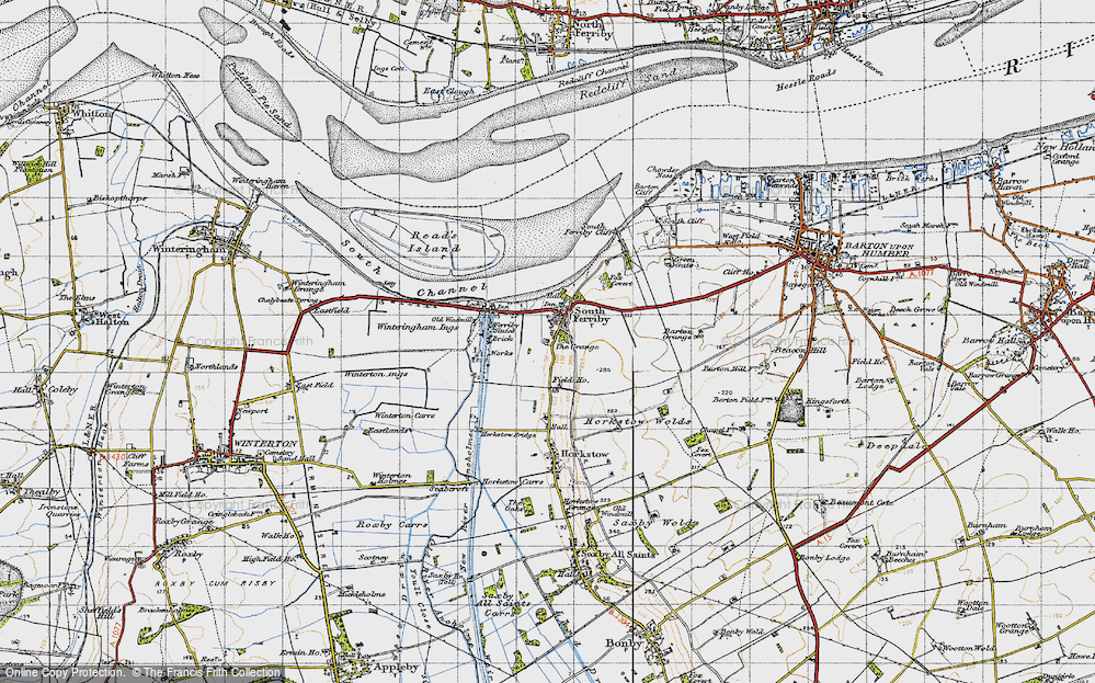 Old Map of South Ferriby, 1947 in 1947
