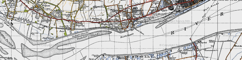 Old map of Yorkshire Wolds Way in 1947