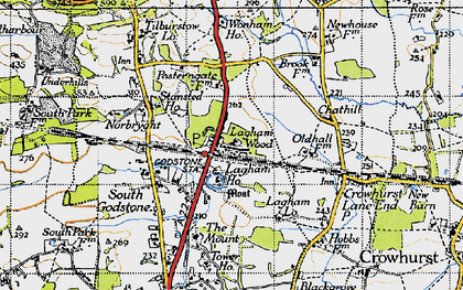 Old map of South Godstone in 1946
