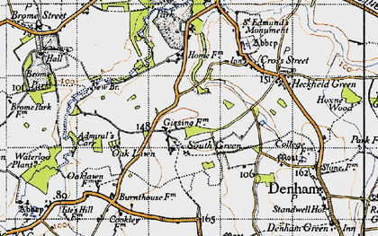 Old map of Admiral's Carr in 1946