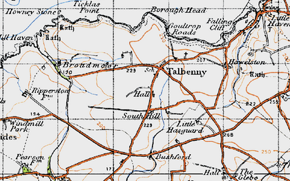 Old map of Ticklas Point in 1946