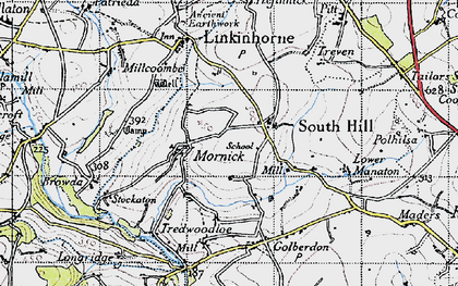 Old map of South Hill in 1946