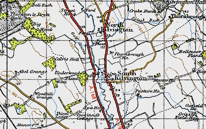 Old map of Abel Grange in 1947
