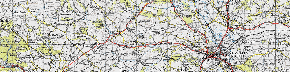 Old map of Wrigwell in 1946