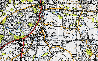 Old map of South Merstham in 1940