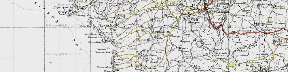 Old map of Whitlocksworthy in 1946