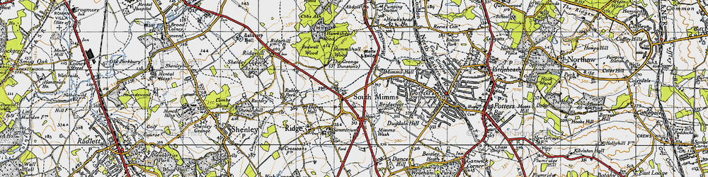 Old map of South Mimms in 1946