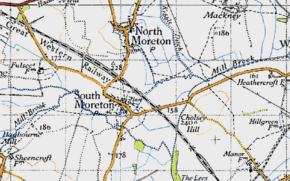 Old map of South Moreton in 1947