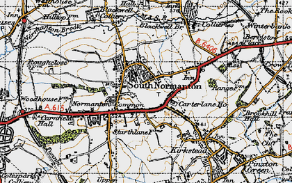 Old map of South Normanton in 1947
