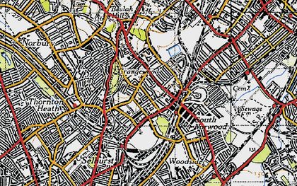 Old map of South Norwood in 1946