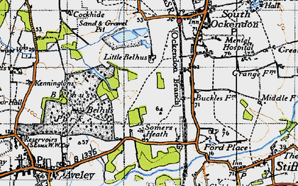 Old map of South Ockendon in 1946