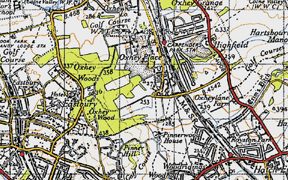 Old map of South Oxhey in 1945