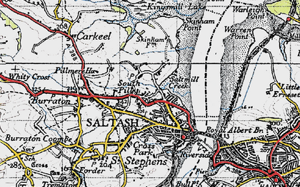 Old map of South Pill in 1946