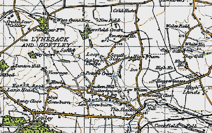 Old map of Potter's Cross in 1947
