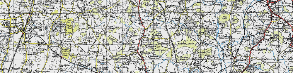 Old map of Wilding Wood in 1940